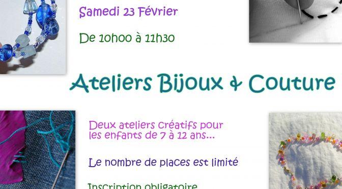 Ateliers Bijoux et Couture à la Médiathèque