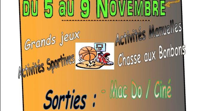 Le programme de l'Accueil de Loisirs – Toussaint 2012