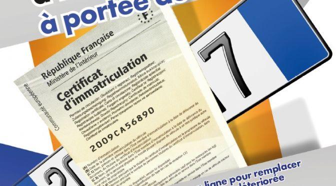 Immatriculation & carte grise : démarches dématérialisées