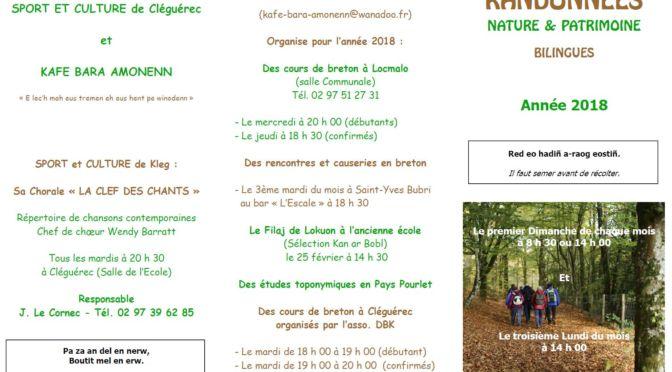Randonnées Bilingues | 2018 | NATURE & PATRIMOINE