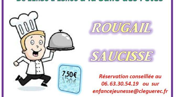 sam. 20 avril | 11h30-13h | «rougail saucisse»| s. des fêtes | clÉguÉrec