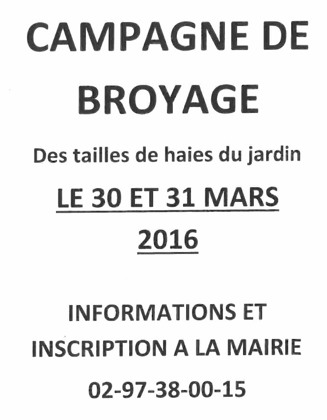Campagne broyage