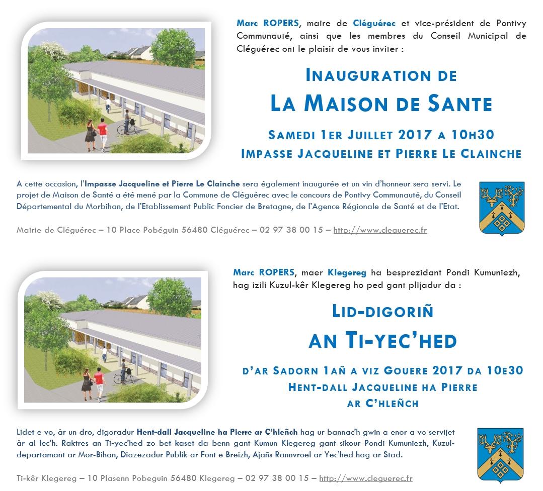 Inauguration Maison De Sante Kleg Infos
