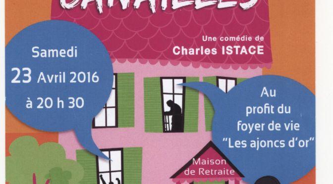 Soirée Théâtre pour le Foyer de Vie  – Samedi 23 Avril