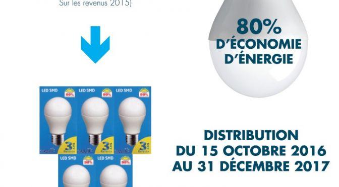 CCAS – Pack de 5 ampoules LED gratuites