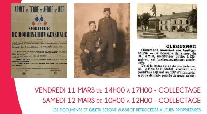 «Sur les traces de 1914 – 1918»<br>Collectage et Conférence