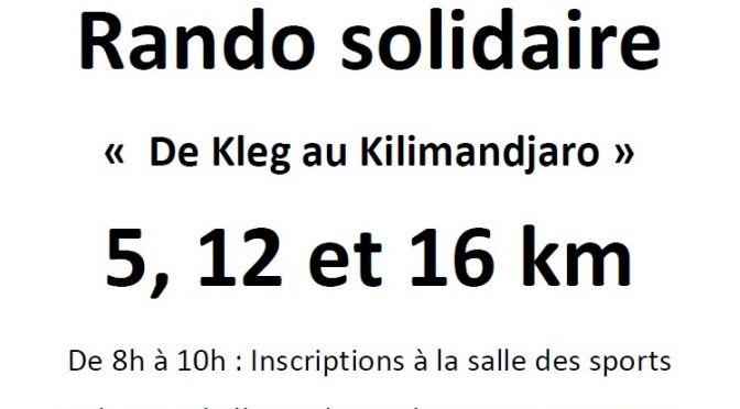 Dimanche 8 octobre : Rando solidaire CCAS – Le Pas Sage