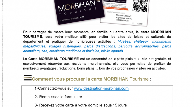Carte Morbihan Tourisme