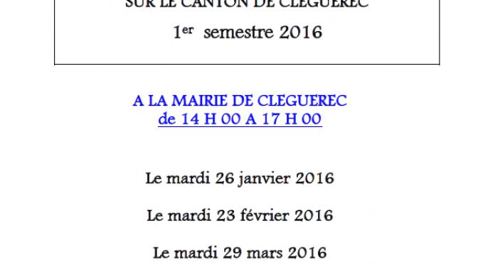 Permanences Mission Locale – Cléguérec