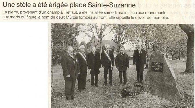 FNACA – Inauguration d'une stèle à Mûr-de-Bretagne