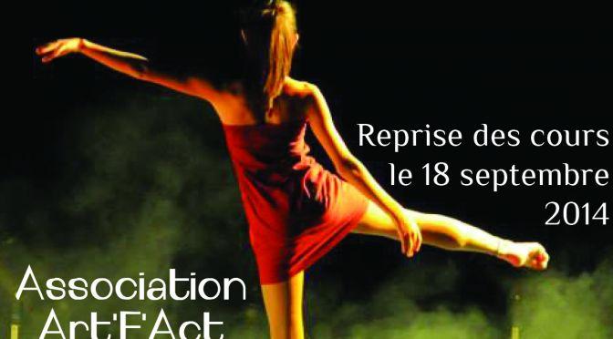 Art'F'Act – Reprise des cours de Modern Jazz