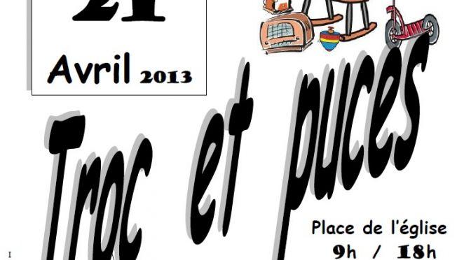 Dimanche 21 Avril – Troc et Puces – UCAC