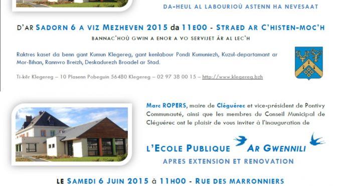 Inauguration de l'école publique après extension et rénovation