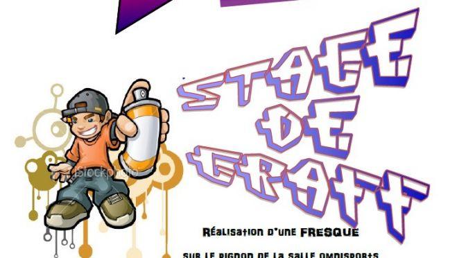Inscrivez-vous pour le stage de Graff du mois d'octobre (11-14 ans) !