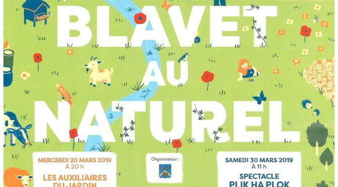 ANIMATIONS «Le Blavet au naturel» : Conférence, TROC & PLANTES, SPECTACLE