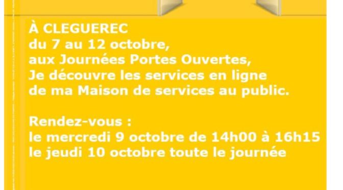 Journée «MSAP» | Du 07 au 12 Octobre | Porte Ouvertes | Cléguérec
