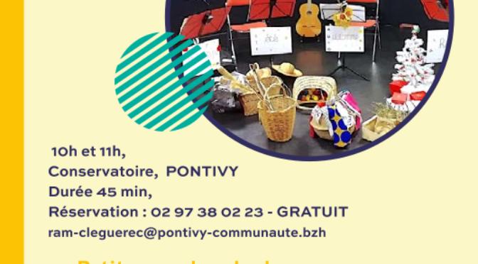 Samedi 16 octobre |»Petite marchande de sons» à 10h ou 11h | conservatoire de Pontivy